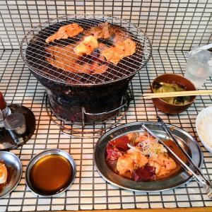 天然温泉 東京 町田 八王子 ロテン・ガーデン と ミックスホルモン定食