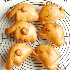 動物クリームパン