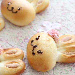 【はまくまパン】酒粕風味のうさくらアンパン
