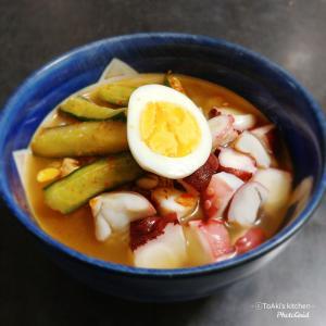 お初です!『胡瓜ナムルとたこの水冷麺』。