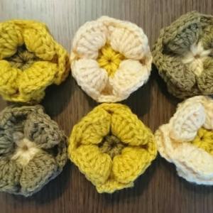 角座の花モチーフを編んでみた