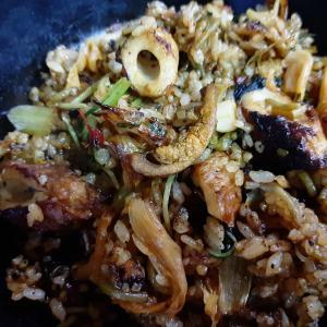 《 ほやレシピ 》自家製ほや塩辛入 #ホヤ炒飯 #ホヤピビンパ  今日は小さな親切の日