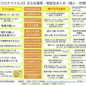 コロナウィルス関連の支援・問い合わせ一覧