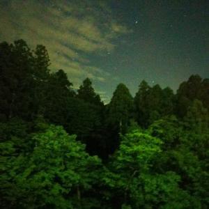 山中温泉の夜空