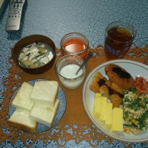 単身赴任の朝御飯!
