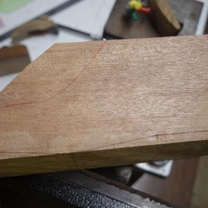 14.5cmの子供靴 木型作り 帯鋸削り