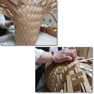 【フリーの教室】斜め網代編みのミニバッグ