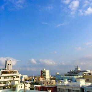 18℃の晴れ空@グッドモーニング!Thursday コザ♪