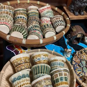 工房しし丸のカラフルな食器や植木鉢の陶芸@第1回ゴーマハウス文化祭!