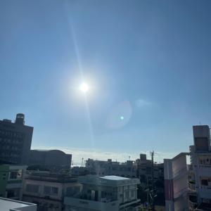 27℃の心地よい快晴@グッドモーニング!Saturday コザ♪