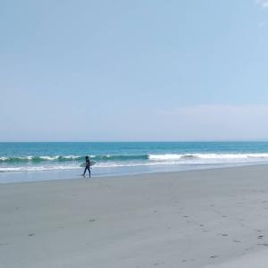 幸せを感じる時と今日の波。
