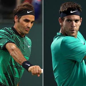 テニス:マイアミオープン2017 3回戦 フェデラー VS デルポトロ