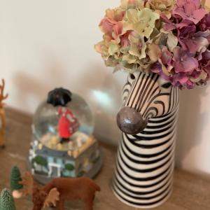 シマウマの可愛い花瓶♡