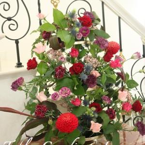 今日はテーブルコーディネート&季節の花あしらいレッスン♥