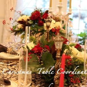 クリスマステーブルコーディネートレッスン♥王道です♪