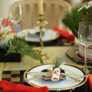 お正月の空間花とテーブルコーディネート♥