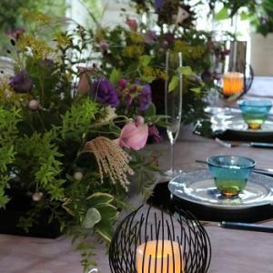 9月のレッスンスタートしました♥ テーブルコーディネート&季節の花レッスン
