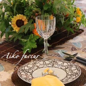 ゴッホのひまわりがテーマ♥フランスの片田舎の食卓でコーディネート♪