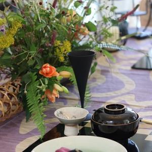 テーブルコーディネートレッスン&季節の花あしらい♥お月見の晩餐♪