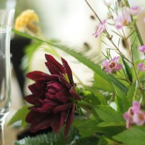 秋の花材仕入れに東京堂へ♥久々に八竹の茶巾寿司♪
