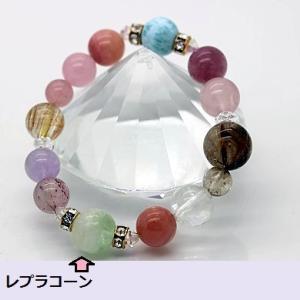 埼玉S・Y様の総合的パワーのブレスレット!ラリマーやピンクトルマリンもすごい♡