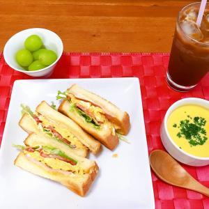 おうちごはん 今日のお昼はサンドイッチ♡