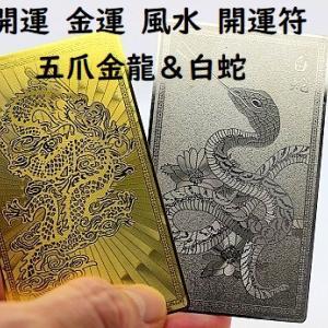 金運アップ&開運の風水開運符 五爪金龍&白蛇 お財布やバッグにどうぞ!