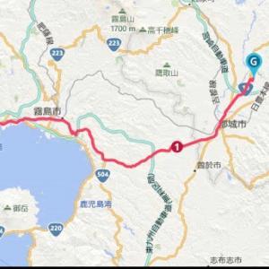 『都城さくらマラソン観戦』鹿児島駅〜都城市ワンウェイラン