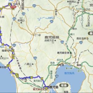 鹿児島中央駅〜熊本・水俣駅ラン116km。途中打ち切り
