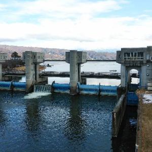 釜口水門(諏訪湖-天竜川)