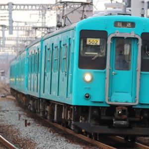 105系和歌山車廃車回送@野田