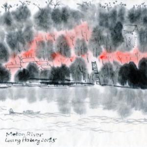 ルアンパバーン、ビエンチャン、バンコクの旅−56、舟にゆられて。