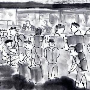 ルアンパバーン、ビエンチャン、バンコクの旅−67、Nong Khai(ノンカーイ)駅で夜行寝台列車を待つ。