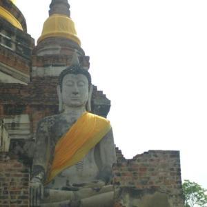ルアンパバーン、ビエンチャン、バンコクの旅−77、ワット・ヤイ・チャイ・モンコン(Wat Yai Chai Mongkon)へ。