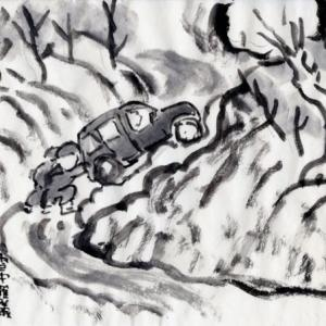 雪の新潟紀行、北越秋山郷を尋ねる旅ー14、出発したのはいいけれど、坂登れるか。