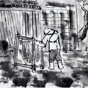 雪の新潟紀行、北越秋山郷を尋ねる旅ー26、村上の朝市へ。