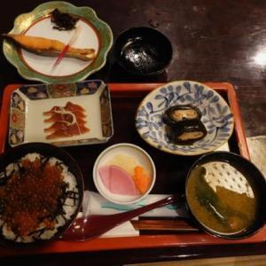 雪の新潟紀行、北越秋山郷を尋ねる旅ー29、村上駅前、「石田屋」で「みおもて定食」。