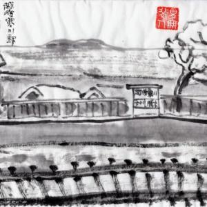 雪の新潟紀行、北越秋山郷を尋ねる旅ー32、JR越後寒川駅で帰りの列車を待つ。