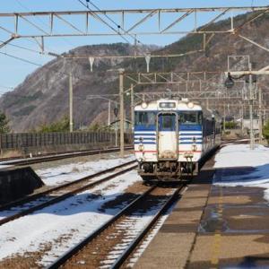 雪の新潟紀行、北越秋山郷を尋ねる旅ー33、列車の車窓から笹川流れを見る YouTube。