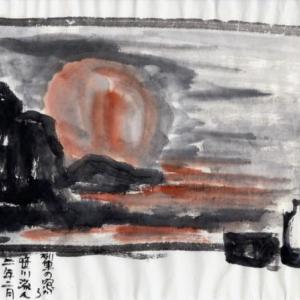 雪の新潟紀行、北越秋山郷を尋ねる旅ー34、列車の車窓から笹川流れを見る。