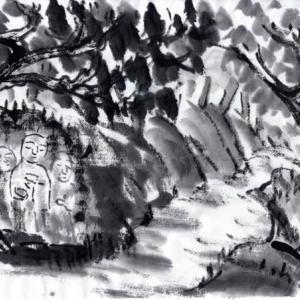 時々、奈良遊、岩船寺、浄瑠璃寺、当尾の里あたりを廻る−05、野仏巡りへ、三体仏へ。