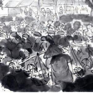 コロナ日和の日々、妄想の旅に出る。V国へ、H市からF市へ列車の旅−01、H市、バイクの街にやってきた。
