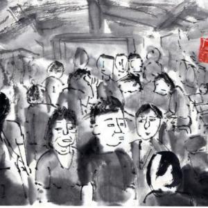 コロナ日和の日々、妄想の旅に出る。V国へ、H市からF市へ列車の旅−02、H市、喧騒の街に出る。
