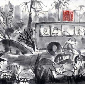 コロナ日和の日々、妄想の旅に出る。V国へ、H市からF市へ列車の旅−05、メコン河に向かう。