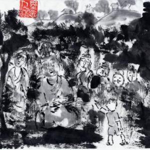 時々、福岡遊、ついでに大分、佐賀をかすめて−11、ホキ石仏第二群を拝観する。