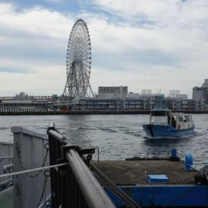 大阪遊、今に残る8つの渡船を全部歩いて巡って見る。03ー天保山渡船を渡る。