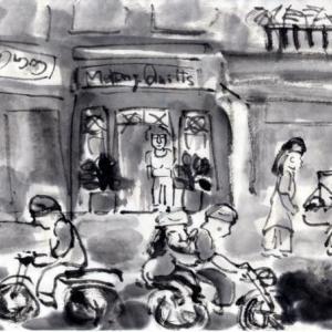 コロナ日和の日々、妄想の旅に出る。V国へ、H市からF市へ列車の旅−35、「Mekong Quilt」でバッグを買う。