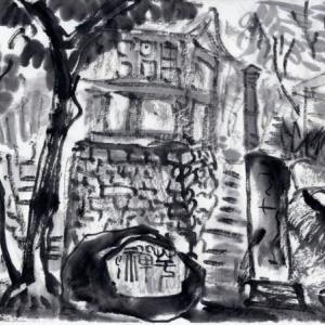 コロナ引き籠り。杭州絵画留学の日々が懐かしい。−30、スケッチを作品に。
