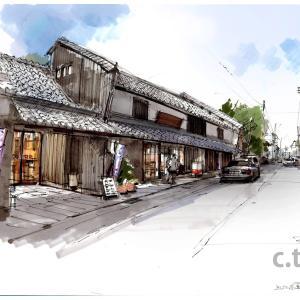 街並みスケッチ 近江高島町