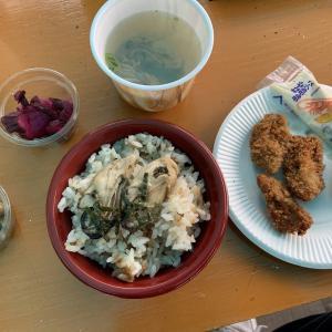初夏の広島家族旅行 その壱 牡蠣フライ定食 かき小屋 島田水産